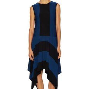 ATHLETA X DEREK LAM IOC Stripe Fluid Dress, NWT!